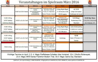 Monatsplan März 2016