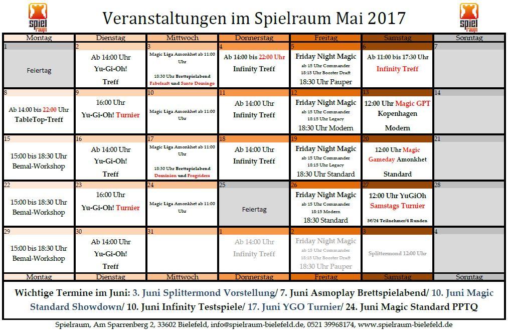Monatsplan Mai 2017