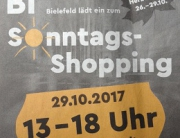 Sonntags Shopping in Bielefeld 2017-10-29