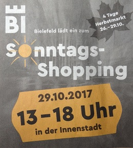 Sonntags Shopping in Bielefeld 2017-10-29