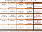 Monatsplan april 2018