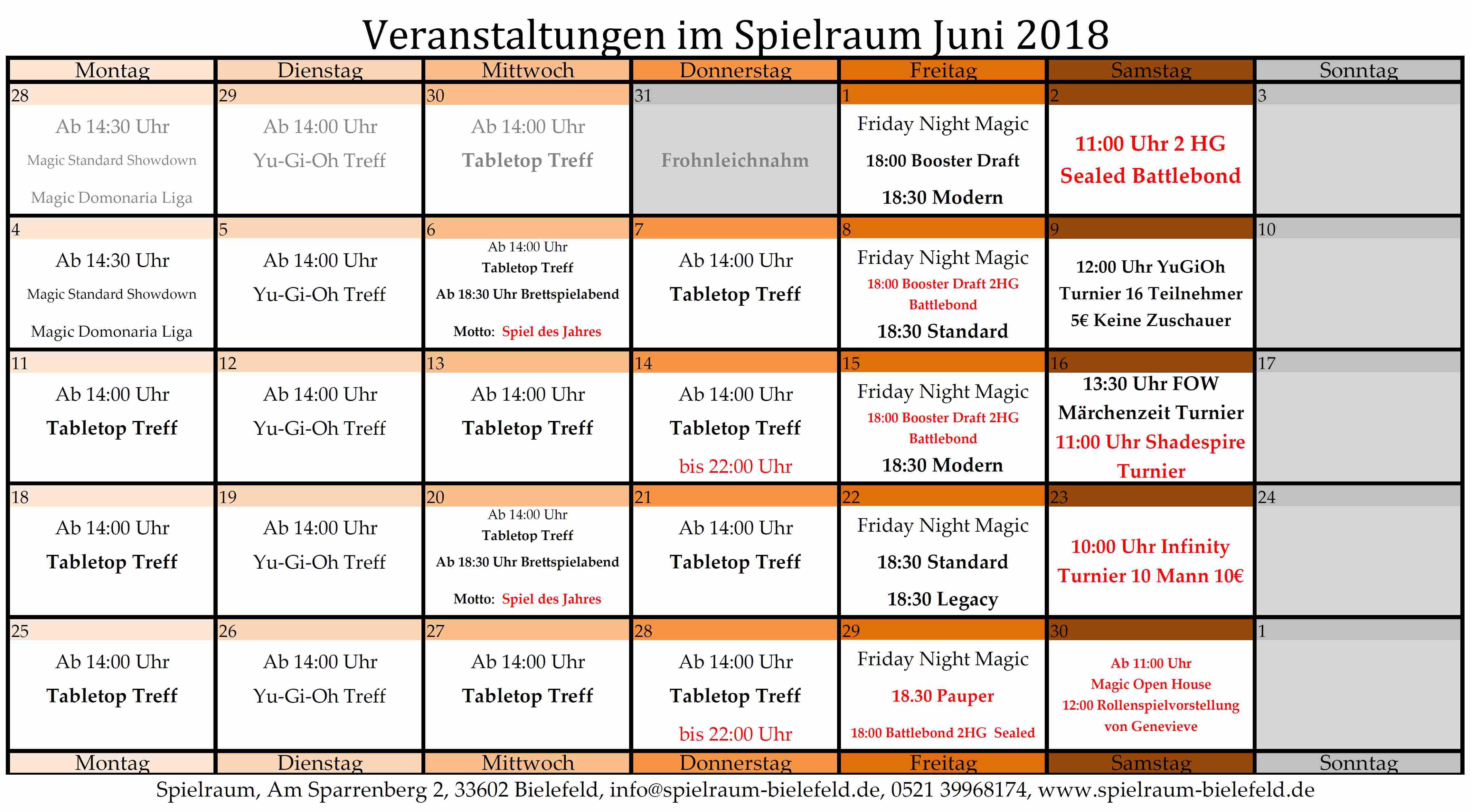 Monatsplan Juni 2018