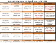 Monatsplan Juli 2018
