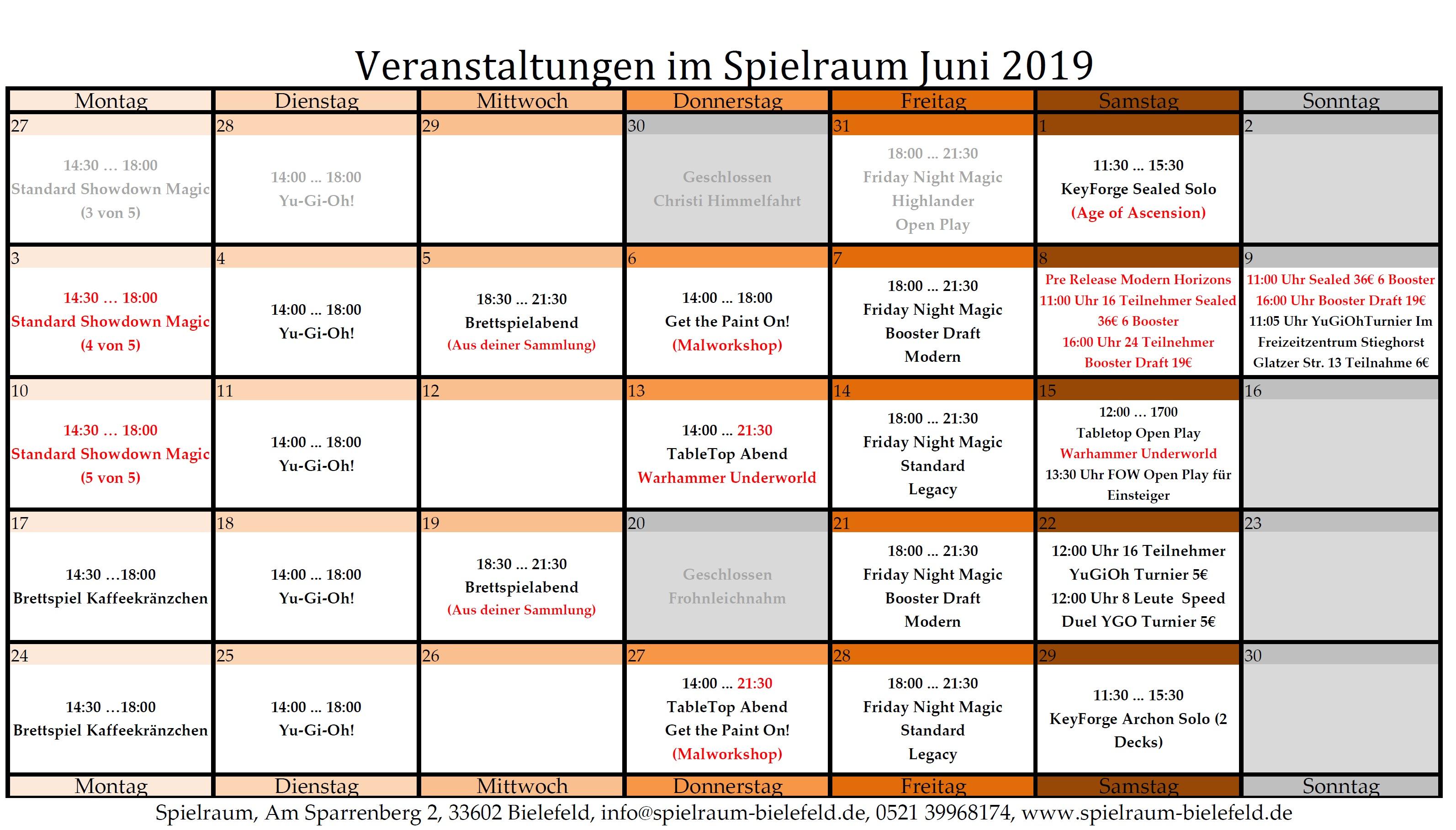 Monatsplan Juni 2019