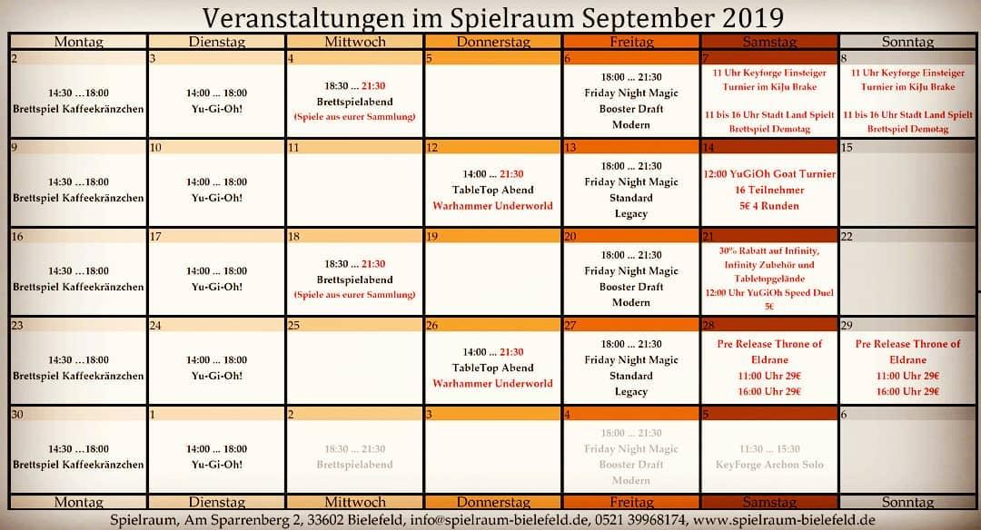 Monatsplan September Insta 2019