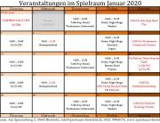 Monatsplan Januar 2020